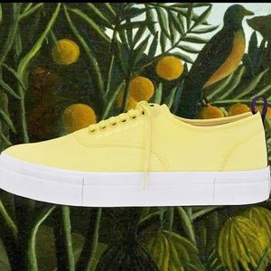 Eytys Yellow Canvas Mother Sneakers In Lemonade